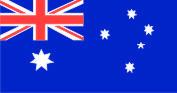 Флажок Австралия шелк, 10х20см
