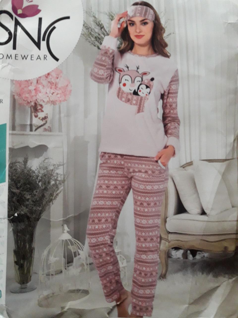 f5fa099ea869d Женская теплая пижама №4037 (махра с флисом): продажа, цена в ...