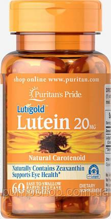 Витамины для глаз Puritan's Pride Lutein 20 mg with Zeaxanthin 60 капс., фото 2