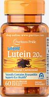 Витамины для глаз Puritan's Pride Lutein 20 mg with Zeaxanthin 60 капс.