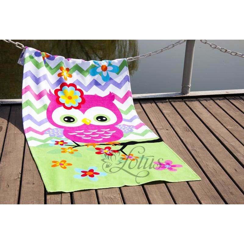 Полотенце Lotus пляжное - Little Owl 75*150 велюр (2000022173827)
