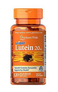 Лютеин Puritan's Pride Lutein 20 mg with Zeaxanthin 120 капс.