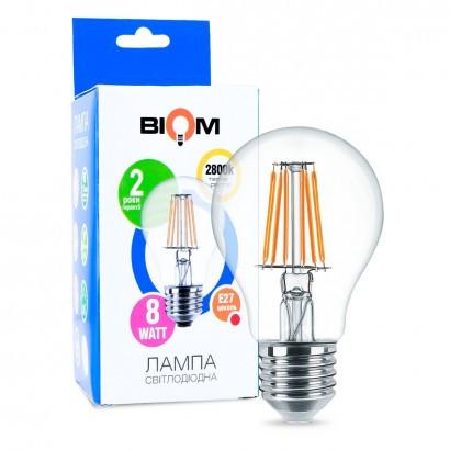 Филаментная лампа Led Biom FL-311 A60 8W E27 2800K