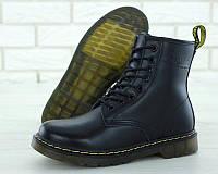 """Ботинки женские зимние кожаные с натуральным мехом Dr. Martens """"Черные"""" размер 36-41"""