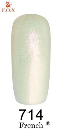 Гель - лак F.O.X French 714 (жемчужно-белый с перламутром и розовым микроблеском), 6 ml