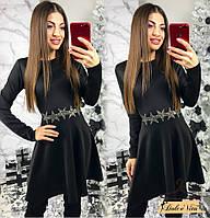 Женское красивое платье с украшением (3 расцветки), фото 1