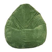 Бескаркасное кресло мешок Флок PufOn, XL, Зеленый бутылка, Зеленый бутылка
