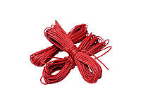 Вощенный шнур, 5 метров Красный