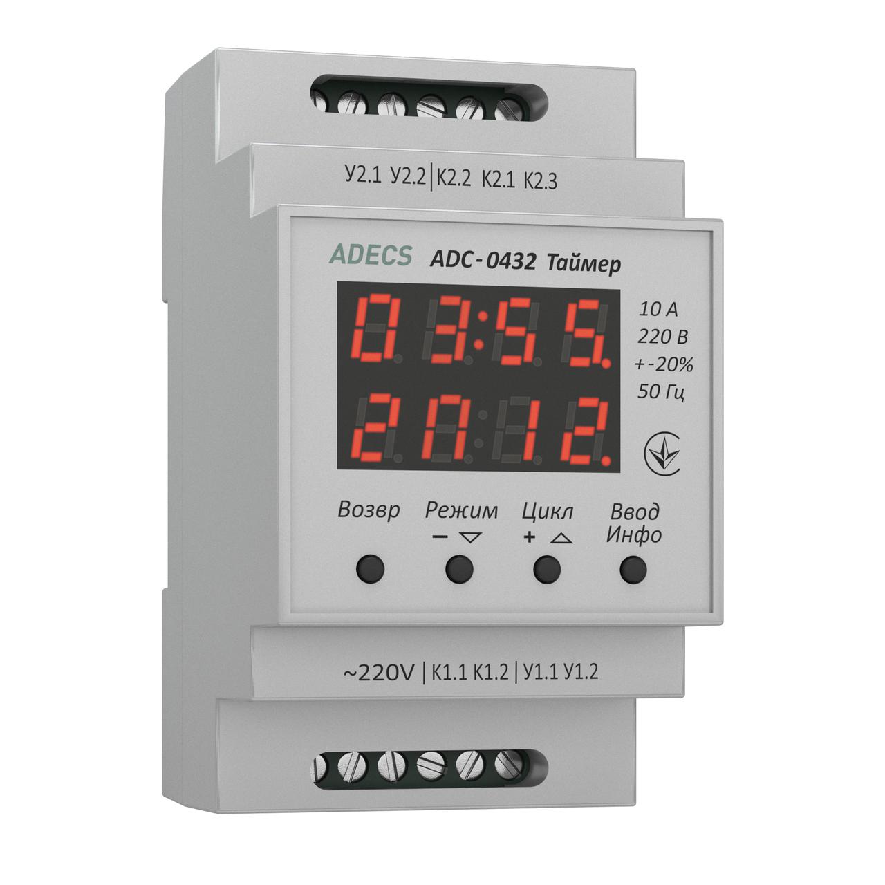Таймер циклический ADC-0432 (реле времени)