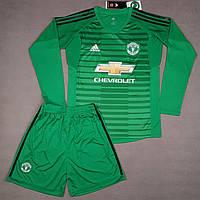 7f08c0741d74 Вратарская футбольная форма Манчестер Юнайтед с длинным рукавом зеленая  (сезон 2018-2019)