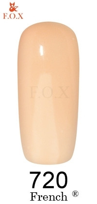Гель - лак F.O.X French 720 (телесный желто-бежевый, эмаль), 6 ml