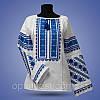 """Блуза вишиванка """"Квіткове поле"""" на білому фоні, фото 2"""