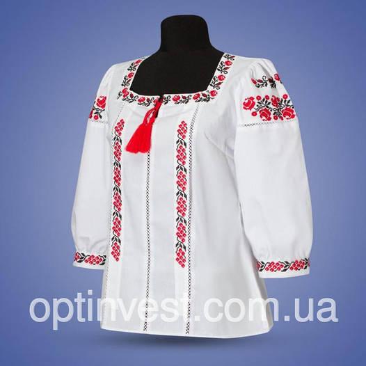 "Блуза с вышивкой  ""Калина"""