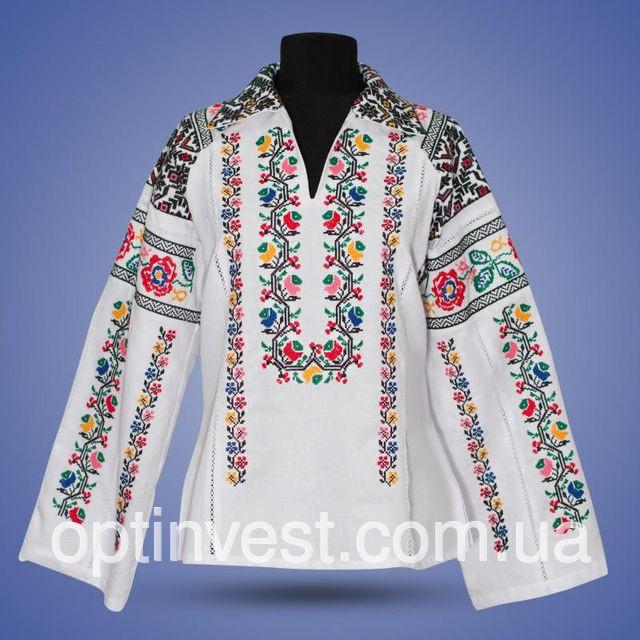 """Блуза вишиванка з коміром  """"Верховина"""""""