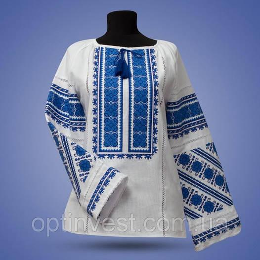 """Блуза - вышиванка """"Цветочное поле"""" на белом фоне"""