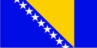 Флажок Боснии и Герцеговины шелк, 10х20см