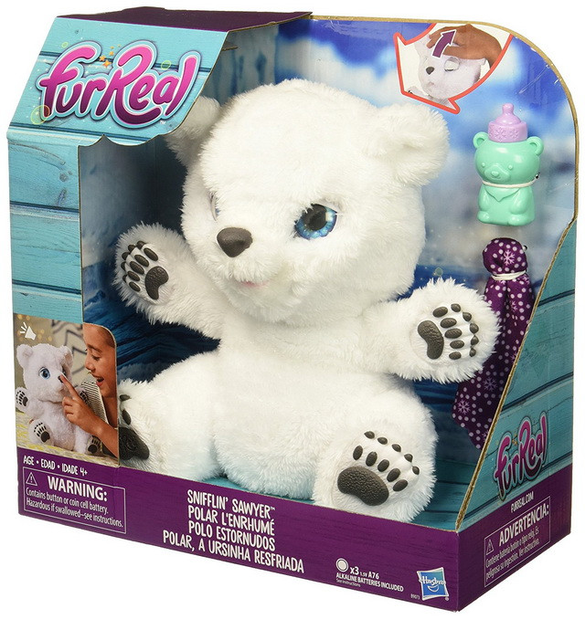медвежонок furreal friends hasbro