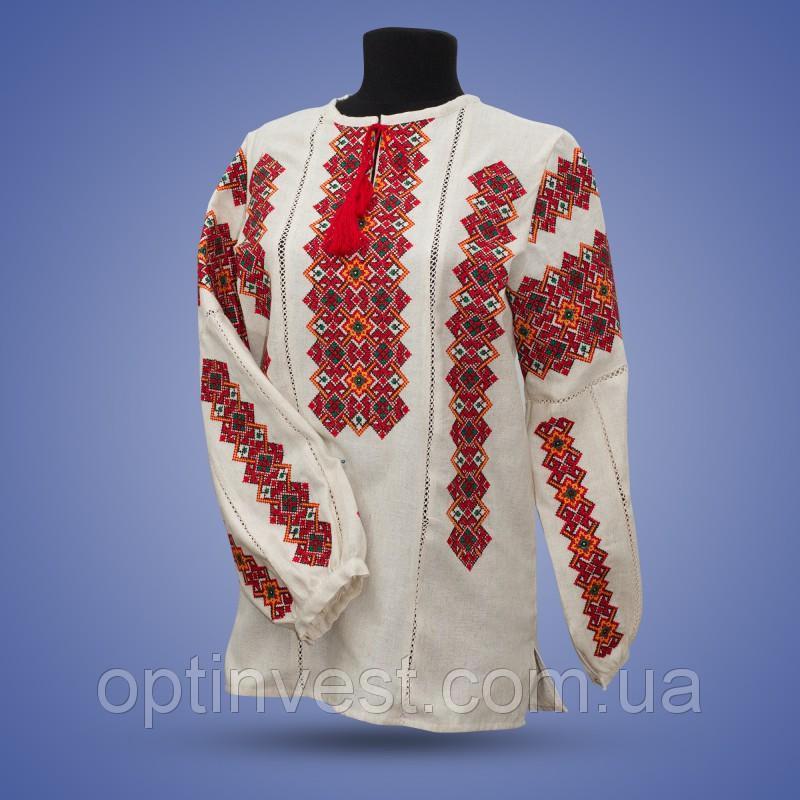 """Вишиванка """"Одарка"""" домотканна тканина"""