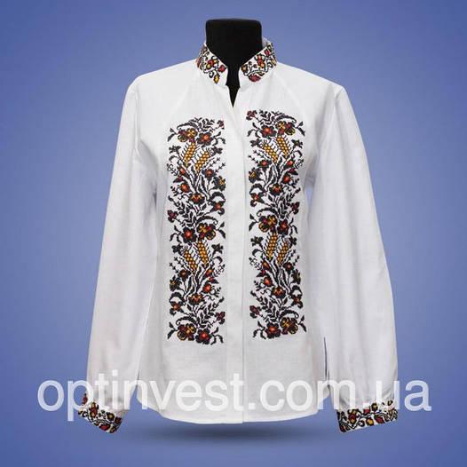 """Блуза вишиванка """"Колоски"""" комір стійкою"""
