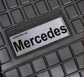 Резиновые коврики лого Mercedes W202 W203 W204 др.