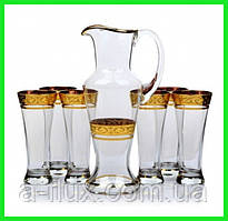 Набор для напитков Bohemia Edera (6+1 шт.)