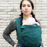 Слинг-шарф YARO SLINGS Newborn Emerald-Black (4,6 м), фото 1