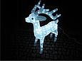 Новогодняя акриловая статуя олень средний RENIFER, Светящиеся новогодние олени 160 LED, фото 2