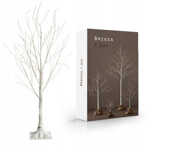 "Новогоднее декоративное дерево-гирлянда ""Береза"" 180 см 96 Led IP 44"
