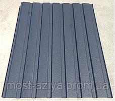 Профнастил темно-серый RAL 7024 графит матовый глянцевый