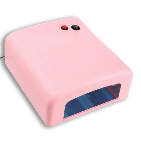 УФ лампа 818 для манікюру рожева