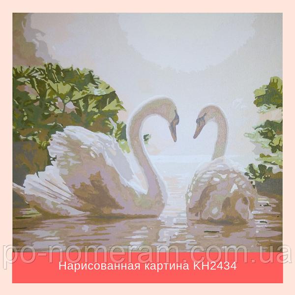 оригинальный подарок на свадьбу - картина с лебедями