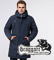 Braggart Arctic 23675   Парка мужская зимняя синяя