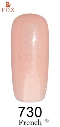 Гель - лак F.O.X French 730 (персиково-розовый с микроблеском), 6 ml