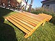 Деревянный лежак - шезлонг ERGO (дерево черешня), фото 5