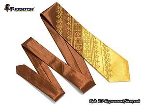 Мужской вышитый галстук стихии Земля, фото 3