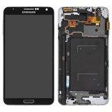 Дисплейний модуль Samsung N9005, N9006 Note 3 чорний, з регулюванням яскравості, TFT, версія LTE