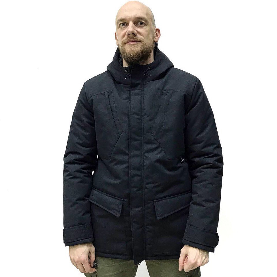 Зимняя мужская парка Bezlad winter jacket one черная, фото 1