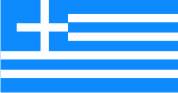 Флажок Греции шелк, 10х20см