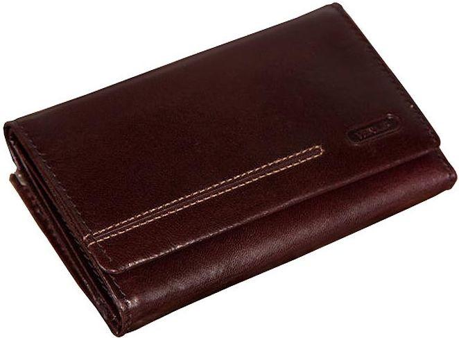 Стильный кожаный кошелек женский VERUS London, артикул: 89B LN коричневый