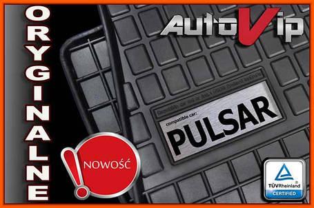 Гумові килимки NISSAN PULSAR C13 2014 - з логотипом, фото 2