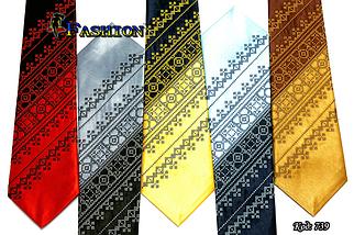 Мужской вышитый галстук стихии Земля, фото 2