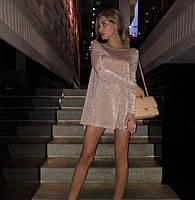 Женское Элегантное нарядное ПЛАТЬЕ из Люрекса