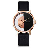 767c8621ac52 TOMI T017 Прозрачный Винтаж Стиль Мужские наручные часы Бизнес Кожаный  ремешок Кварцевые часы 1TopShop