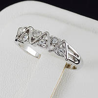 Необычное кольцо с кристаллами Swarovski в позолоте 0361, фото 1