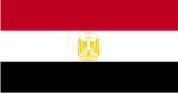 Флажок Египта шелк, 10х20см