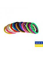 Набір пластику для 3D-ручок PLA 1,75мм, 5м 16 кольорів (2 кольори в наборі флюрисцентні)