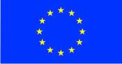 Флажок Евросоюза шелк, 10х20см