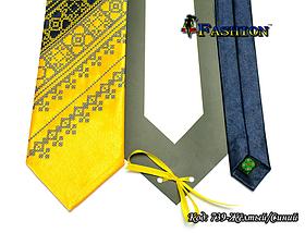 Чоловіча краватка з вишивкою стихії Сонце, фото 2