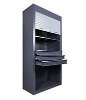 Шкаф инструментальный ролетный ШИ-10/3П/3В Р (1970х1000х500 мм), металлический шкаф для инструментов