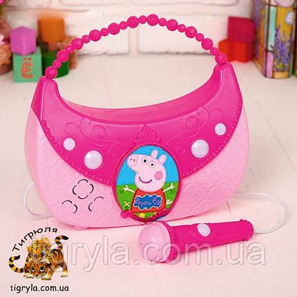 Микрофон колонка в виде сумочки - Свинка Пеппа, фото 2